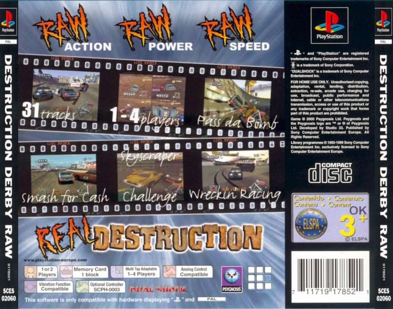 destruction derby raw iso psx